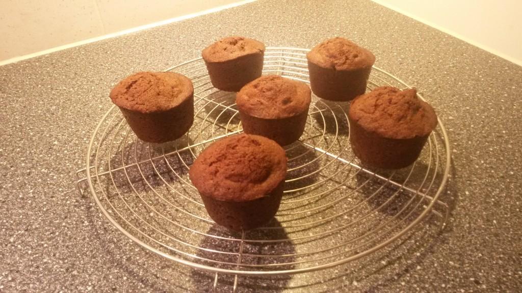 Bananenmuffins naar recept van Paul Prudhomme