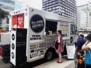 Foodtruck The Arepa Republic in Toronto, 2016