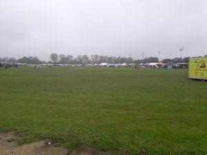 Veel regen hield de bezoekers op de tweede dag weg.