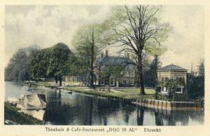 Foto van theehuis en café-restaurant Oog in Al, rond 1920
